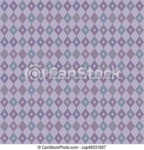 Elegant Seamless Victorian Wallpaper Background Retro Purple Diamond Check Geometry Cross
