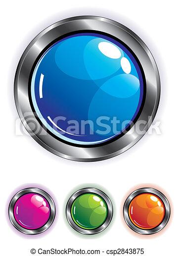 elegant shiny web button - csp2843875
