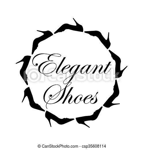 elegant shoes text with a circle of ladies shoes vector clip art rh canstockphoto co uk elegant clip art for elegant clip art for