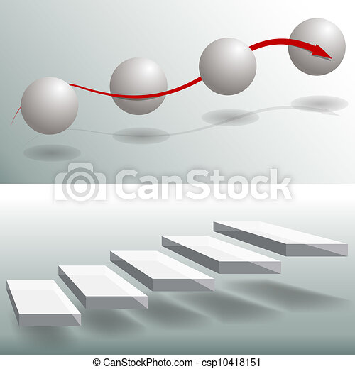 Elegant Sphere Stairs Business Charts - csp10418151