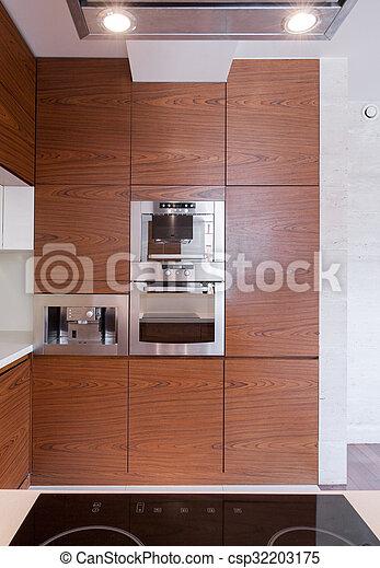 elegant, stil, modern, kueche  - csp32203175