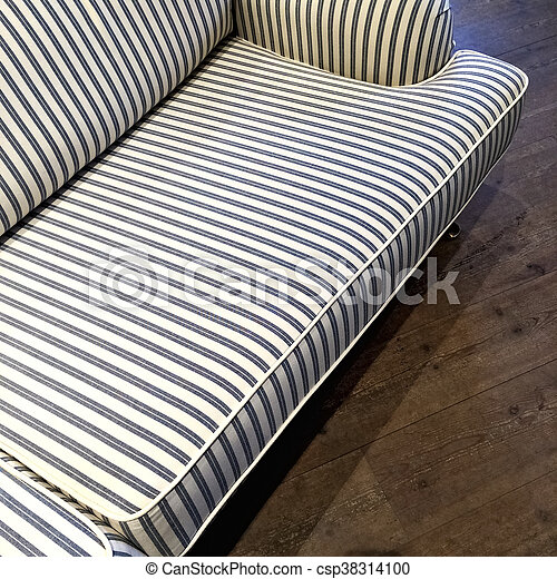 Admirable Elegant Striped Sofa On Dark Wooden Floor Evergreenethics Interior Chair Design Evergreenethicsorg