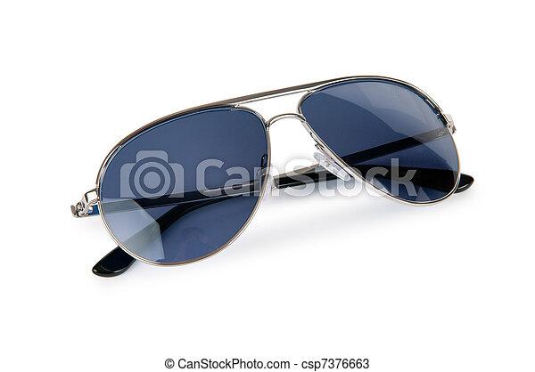 Elegant sunglasses isolated on white - csp7376663