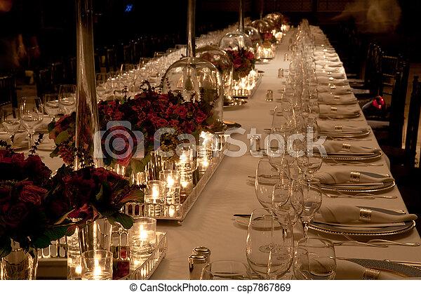 Elegant table setting - csp7867869 & Elegant table setting. Elegant candlelight dinner table... stock ...