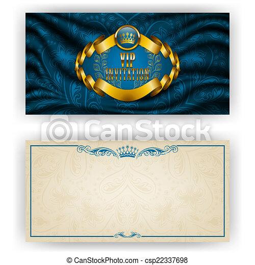 Elegant template for vip luxury invitation - csp22337698