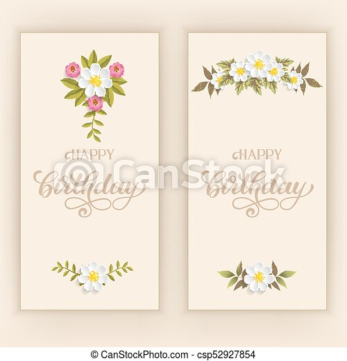 Elegant vector happy birthday card vector invitation card with elegant vector happy birthday card vector invitation card with background and frame with flower stopboris Image collections