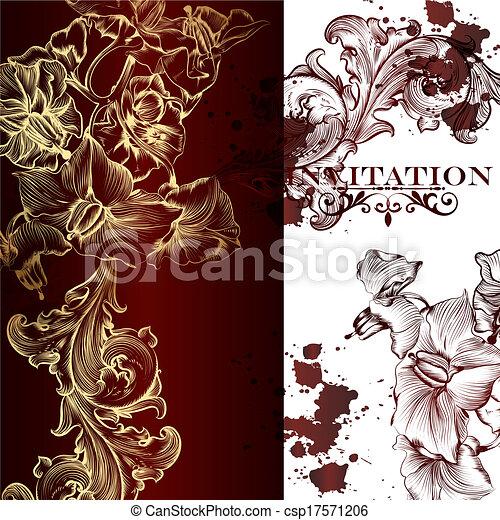 Elegant vector invitation card - csp17571206