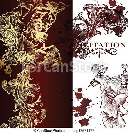 Elegant vector invitation card - csp17571177