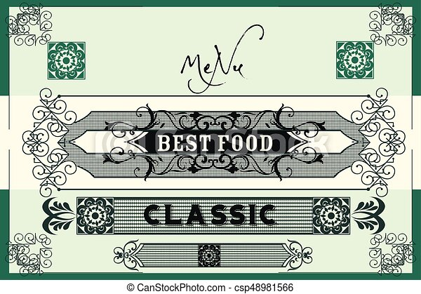 Elegant vector menu design or invitation in royal style with clip elegant vector menu design or invitation in royal style with flourishesassic victorian styleeps stopboris Images