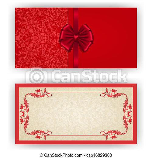 Elegant vector template for luxury invitation, card - csp16829368