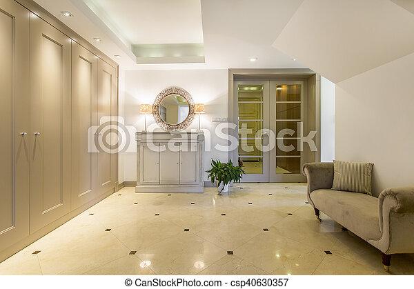 Elegant Walk In Closet Womans Dream Elegant Tilled Floor Walk In