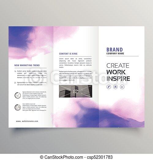 create tri fold brochure