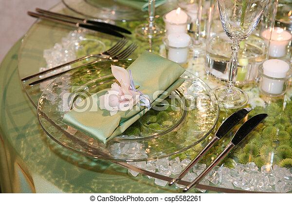 Elegant wedding dinner - csp5582261