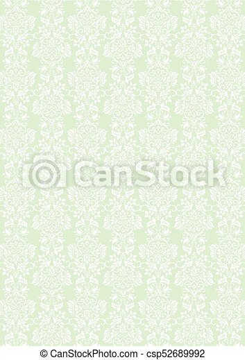 Elegant White Flowers Pattern Textured Green Wallpaper Background