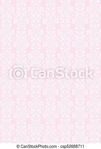 Elegant White Flowers Pattern Textured Pink Wallpaper Background