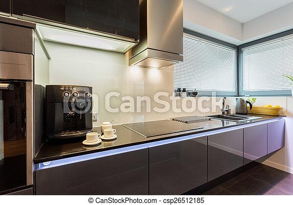 La cocina plateada elegante - csp26512185