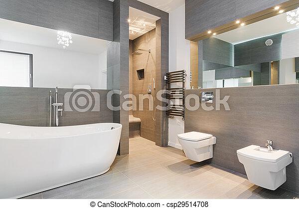 Elegante, cuarto de baño, clásico. Cuarto de baño, clásico, estilo ...