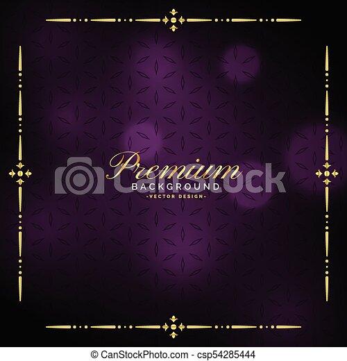 Elegante diseño vintage de lujo - csp54285444