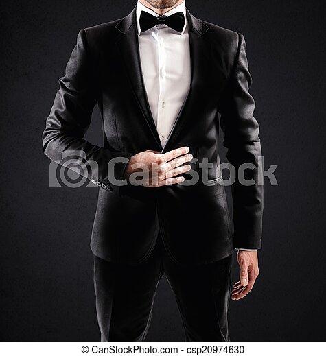 elegante, homem negócios - csp20974630