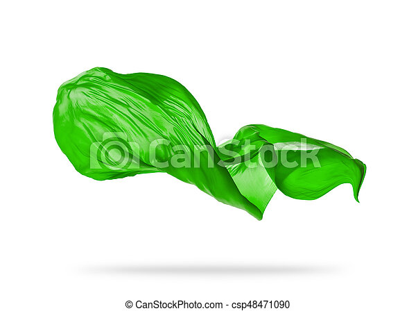 elegante, liscio, stoffa, sfondo verde, bianco - csp48471090