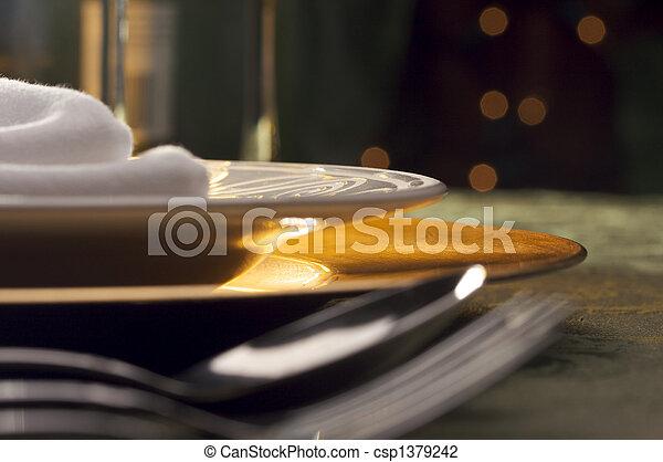 elegante, montaggio cena - csp1379242