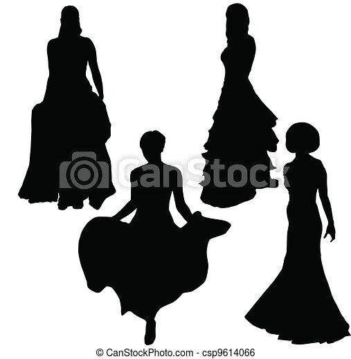 Mujer elegante - csp9614066