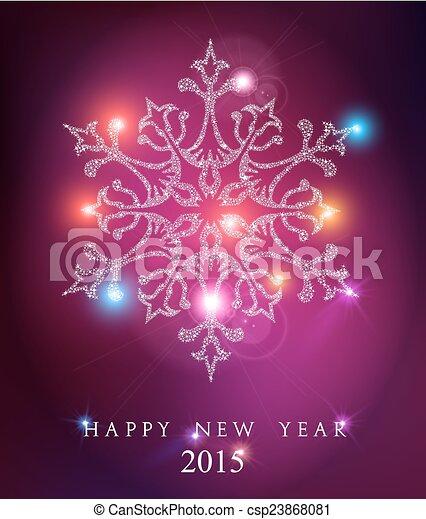 Feliz año nuevo 2015 elegante fondo de tarjetas - csp23868081