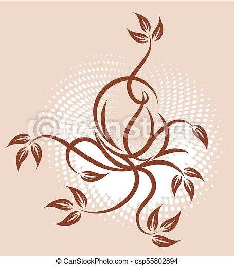 Diseño abstracto elegante. - csp55802894