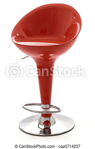 elegante, tamborete, barra vermelha - csp0714237
