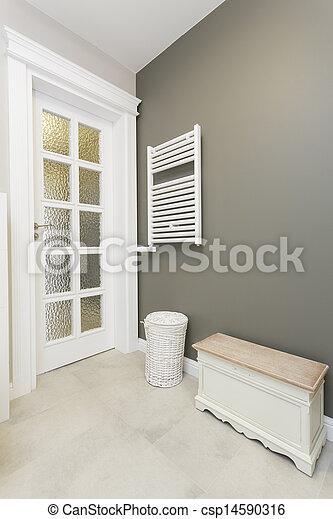 Elegante, toscana, cuarto de baño, -, muebles. Cuarto de ...