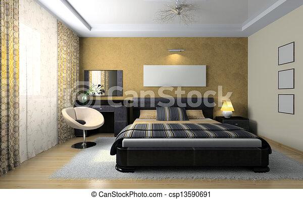 Elegante vista camera letto elegante interpretazione for Camera letto 3d