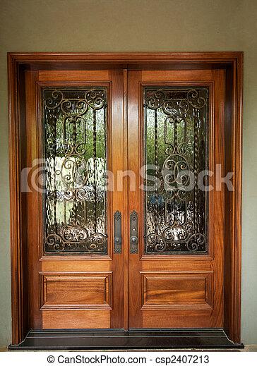 Elegantly Designed Front Doors Stock Photo & Elegantly designed front doors. An image of elegant detailed ... pezcame.com