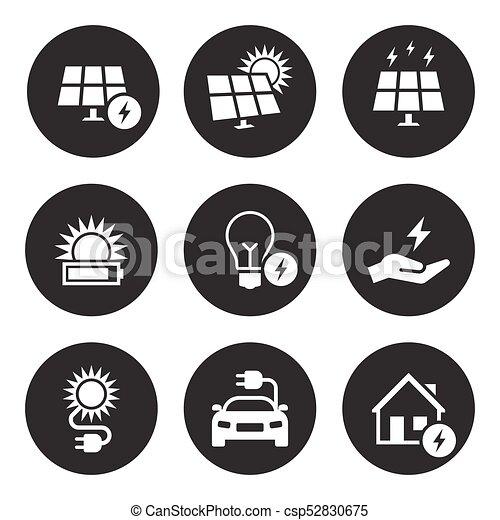 elektriciteit, set, energie, pictogram - csp52830675