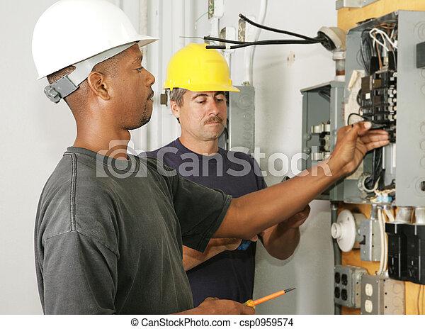 elektriker, andersartigkeit - csp0959574