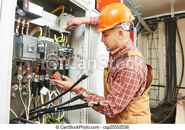 elektriker, arbetare, ingenjör - csp25552536