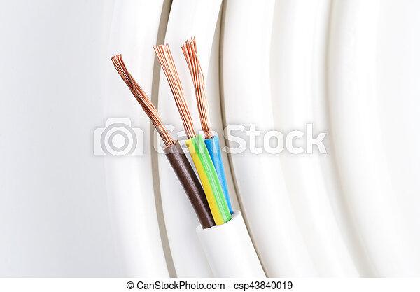 Elektrokabel mit drei isolierten Leitungen - csp43840019