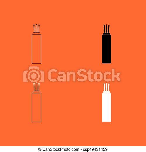 Elektrisch, kabel, ikone Clipart Vektor - Suche Illustration ...