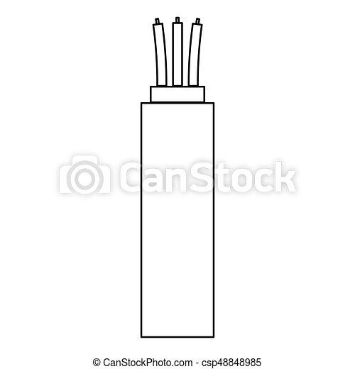 Elektrisch, kabel, ikone Vektor - Suche Clipart, Illustration ...