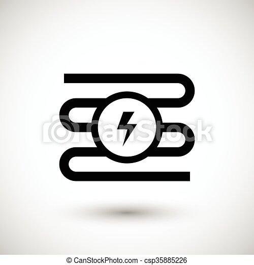 Elektrische heizung, system, ikone. Heizung, elektrisch,... Vektor ...