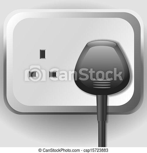 Elektrischer sockel, kabel Vektor - Suche Clipart, Illustration ...