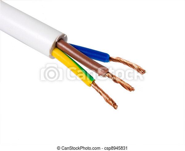 Hintergrund., weißes, elektrisches kabel Clipart - Suche ...