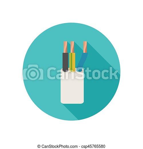 Elektrisches kabel, ikone. Kabel, langer, vektor,... Vektor - Suche ...