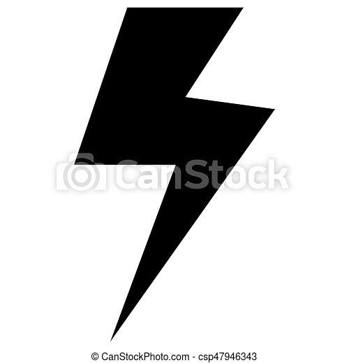 Elektrizität farbe, symbol, schwarz, ikone. Elektrizität, symbol ...
