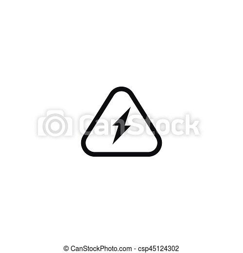 Elektrizität, symbol, aufmerksamkeit, freigestellt, weißes. Hoch ...