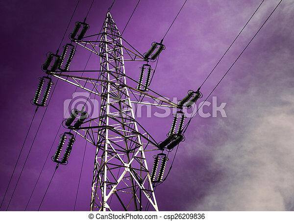 elektrizitätsstange - csp26209836