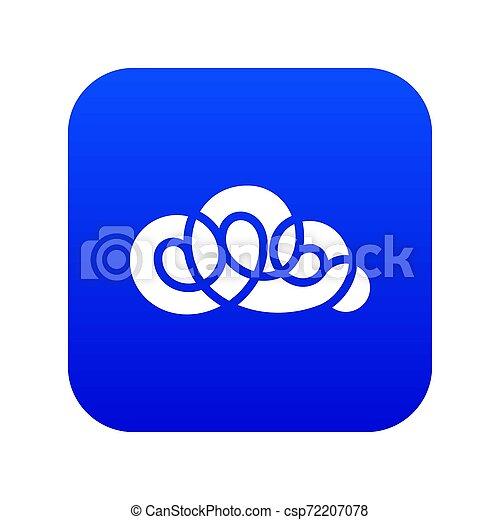 Element cloud icon blue - csp72207078