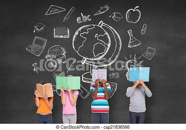 Elementary pupils reading - csp21836566