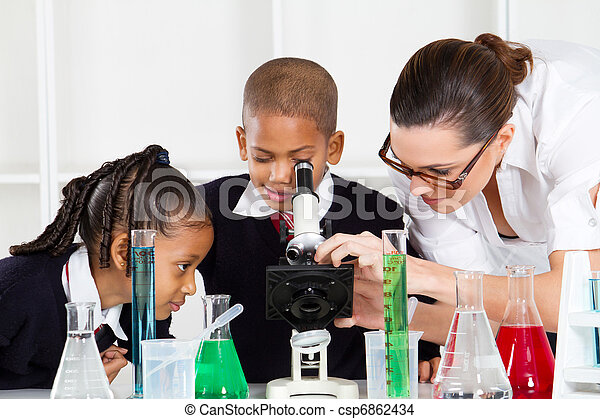 elementary science class - csp6862434