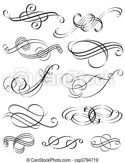 Kalligrafische Elemente - csp3794719