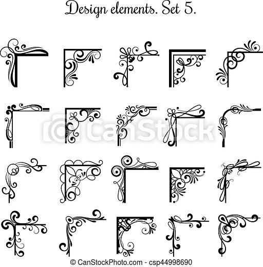 elemente ecken freigestellt hintergrund viktorianische eps vektoren suche clipart. Black Bedroom Furniture Sets. Home Design Ideas